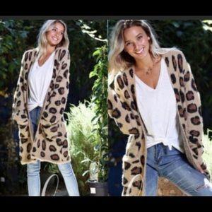 Leopard Print Open Cardigan